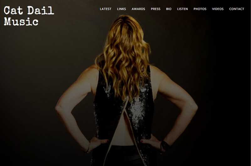 Cat Dail Music Website