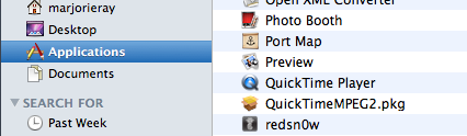 Select Quicktime Player