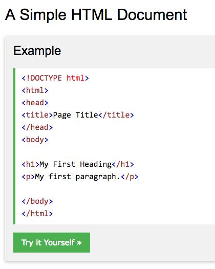Simple HTML markup