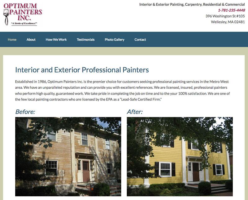 Painting Contractor Website