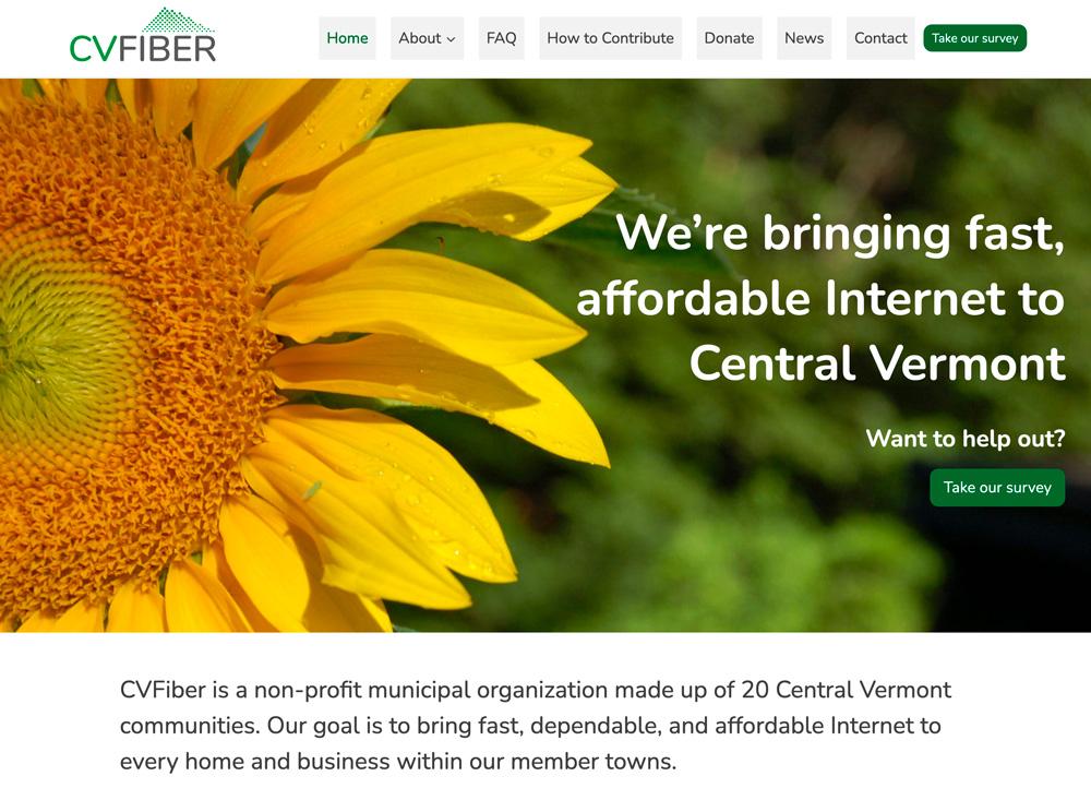 CVFiber Vermont website design